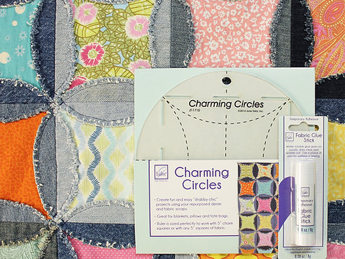 Charming Circles and Fabric Glue Stick