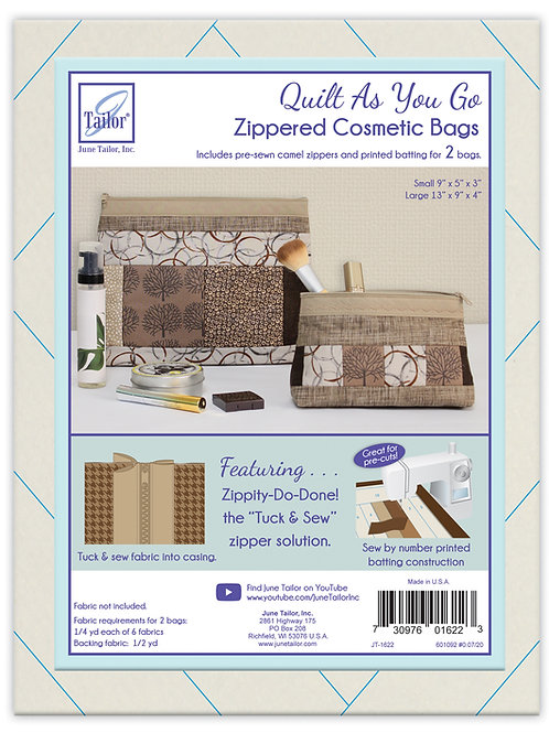 Zippity Do Done Cosmetic Bags (2) - Camel Zipper