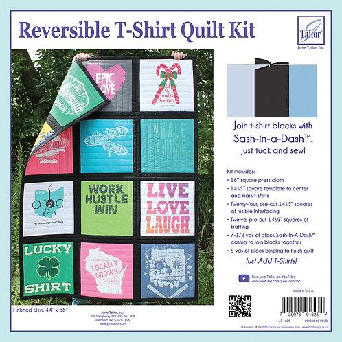 Reversible T-Shirt Quilt Kit - Black Sashing