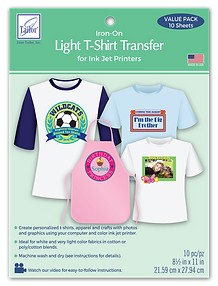 Light T-Shirt Transfer 10 pack