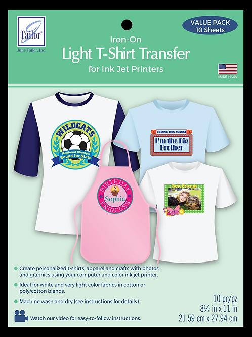 Light T-Shirt Transfers - 10 pack