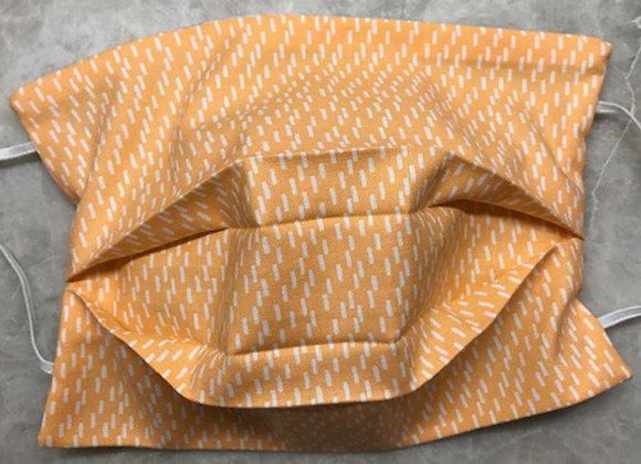 Dashes - Orange, Reversible Face Mask
