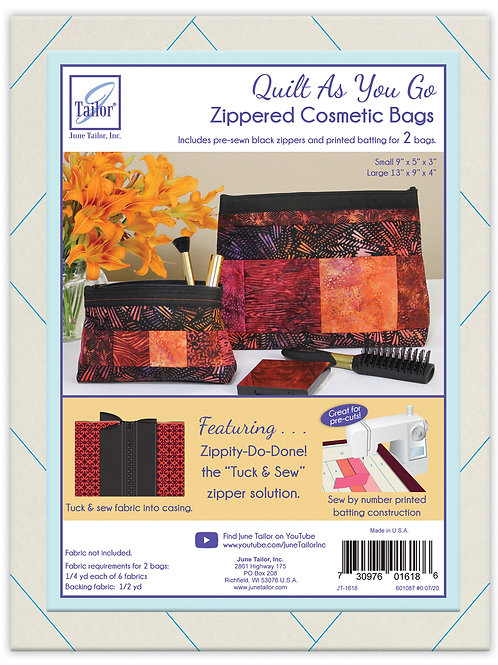 Zippity Do Done Cosmetic Bags (2) - Black Zipper