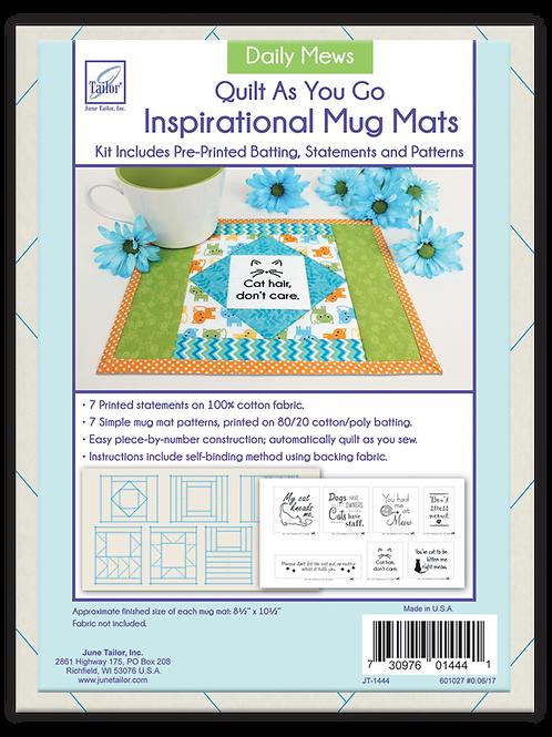 Inspirational Mug Mats - Daily Mews - Quilt As You Go