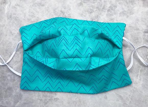 Primitive Peaks - Aqua, Reversible Face Mask