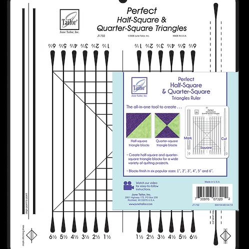 Perfect Half-Square & Quarter-Square Triangles Ruler