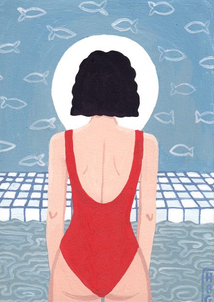 Baby Paintings - Swimming pool