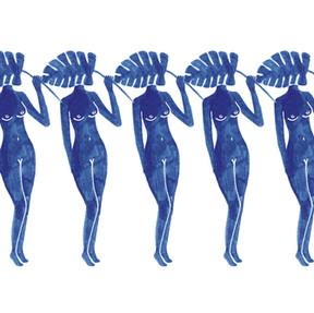 Blue Ladies Artwork