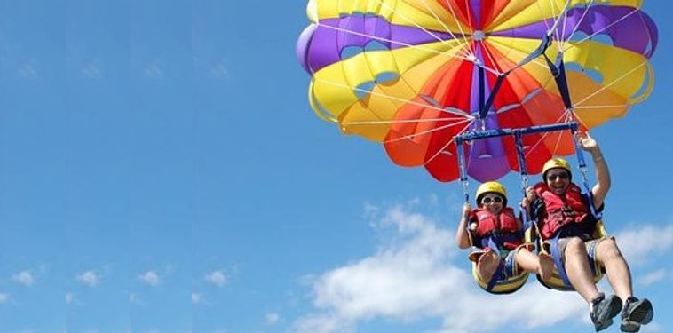 Jumping with a parachute