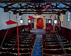 Sanctuary at Easter, Kite banners