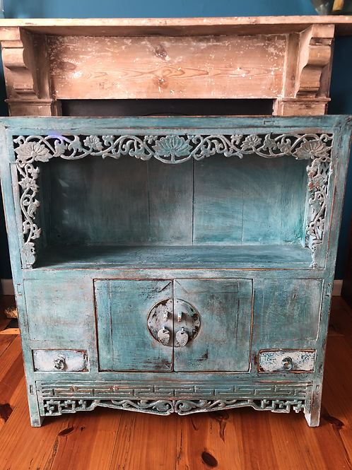 Turquoise Chinese Cabinet