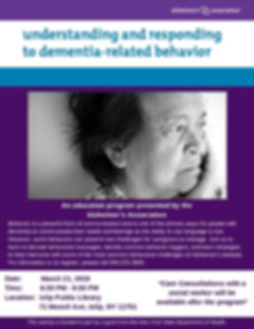 Understanding and Responding to Dementia