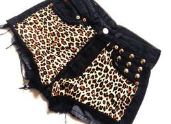 Black Denim & Double Leopard