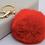 Thumbnail: RED POM-POM KEYRING