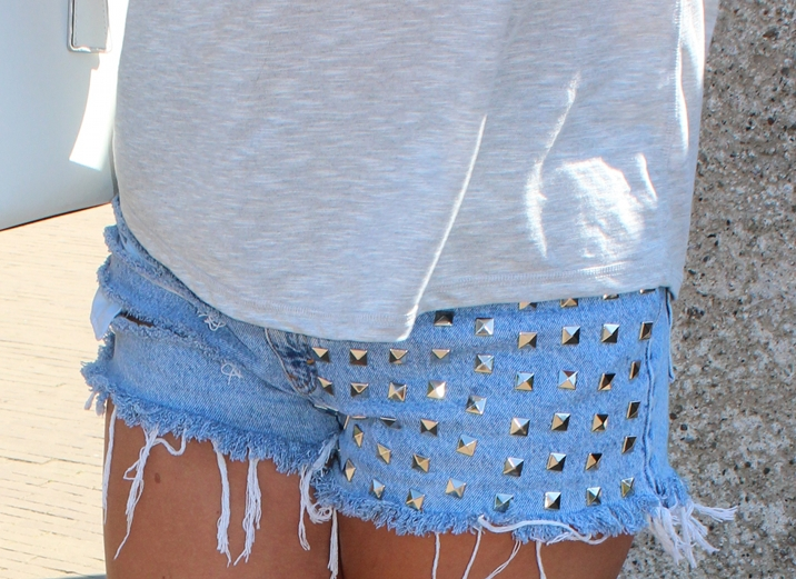 Silver Square Studded Front Panel