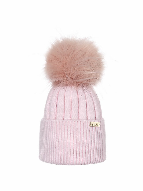 PASTEL PINK BABY LUXE BEANIE