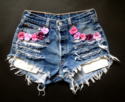 Flowers on Front Pockets