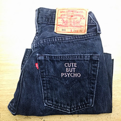 Embroidered Back Pocket