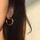 Thumbnail: HAMMERED HOOP EARRINGS