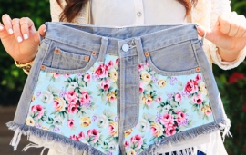 Baby Blue Floral Front Panels