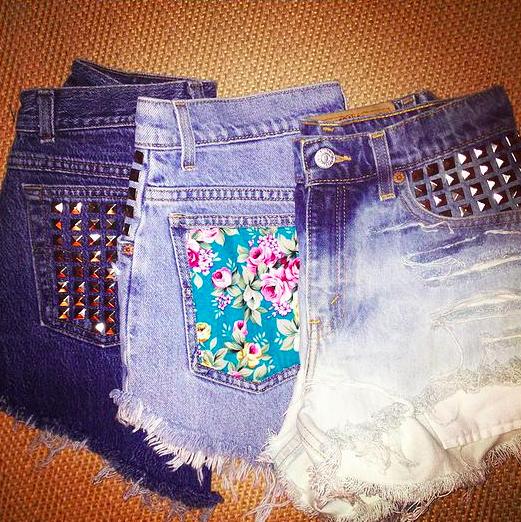 Studded Pocket,Floral Pocket &Dipdye