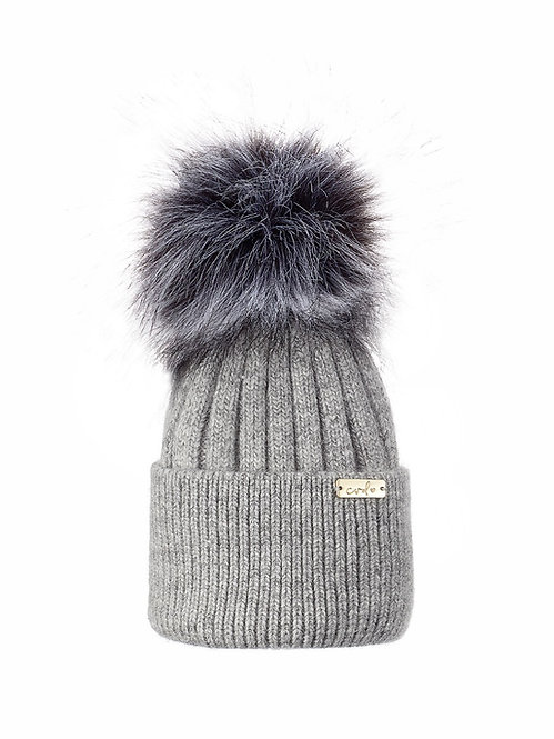 HEATHER GREY BABY LUXE BEANIE