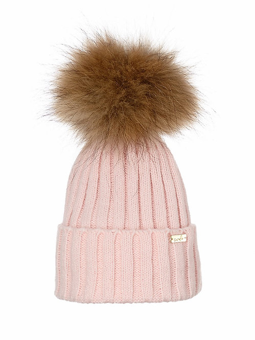 PASTEL PINK LUXE BEANIE