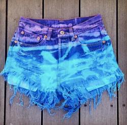 Purple & Aqua Bleached-Out