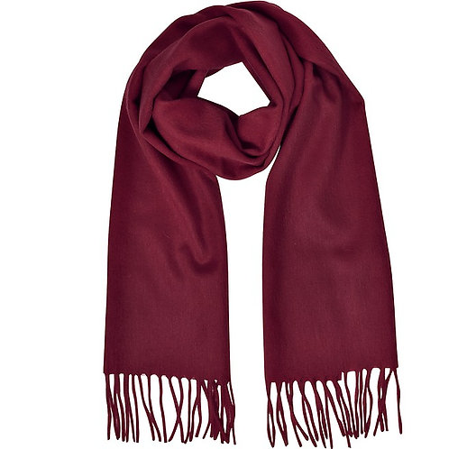 OXBLOOD MONOGRAM SCARF