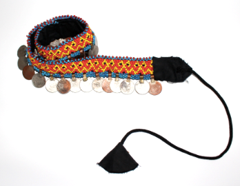 HAND-STITCHED COIN BELT (v)