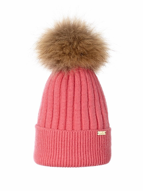 RASPBERRY PINK LUXE BEANIE