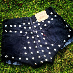 Silver Round Studded Back Panels
