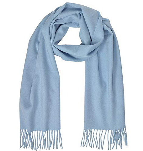 POWDER BLUE MONOGRAM SCARF