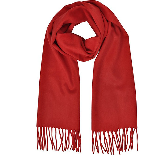 RED MONOGRAM SCARF