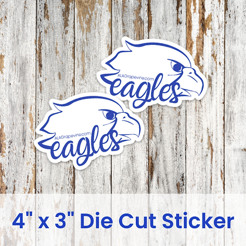 "4"" x 3"" Die Cut Eagle Stickers"