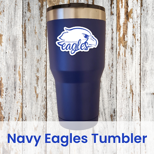 Navy Eagles Tumbler