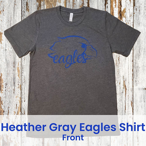 Heather Gray Eagles Shirt - Order DEADLINE Oct. 15