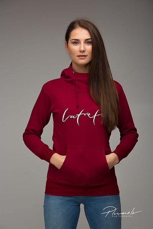 Latviete | Džemperis ar kapuci - sarkans