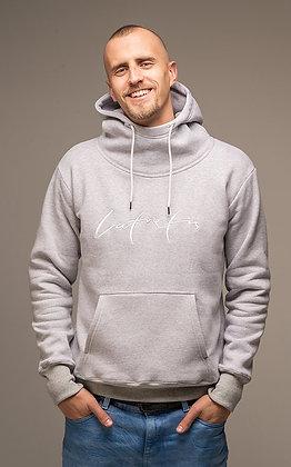 Džemperis ar kapuci - pelēks // Latvietis