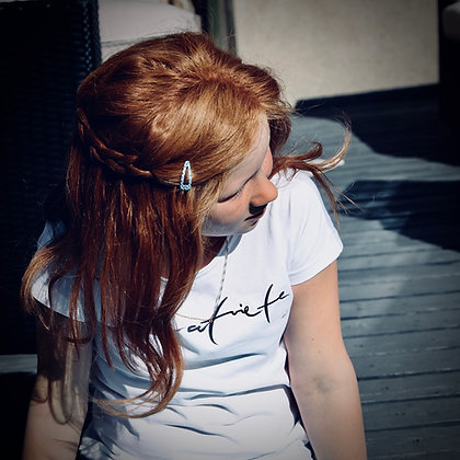 Bērnu balts BlankBlank dizaina krekls // Latviete