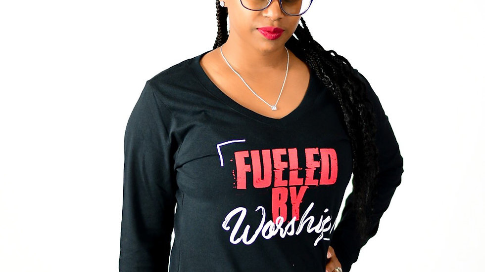 Fueled By Worship -Black Long Sleeve