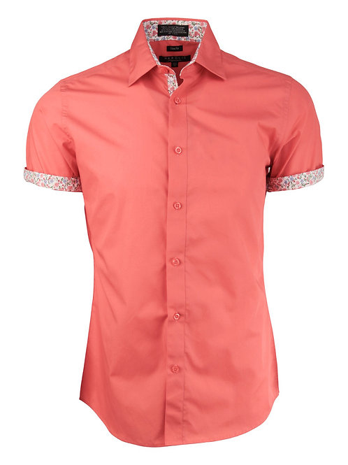 Salmon Short Sleeve Dress Shirt