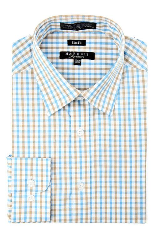Tattersall Slim Fit Dress Shirt