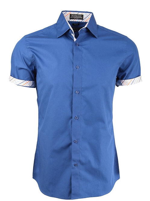 Royal Blue Short Sleeve Dress Shirt