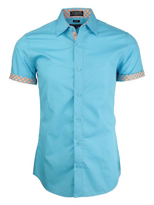 Teal Short Sleeve Dress Shirt
