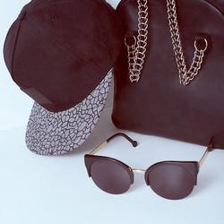 Cap, Bag and Glasses