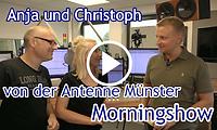 Christoph Hausdorf und Anja Brukner von Radio Antenne Münster