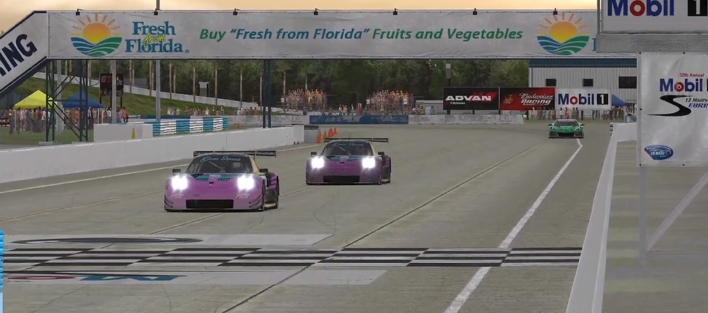 Team Goon Squad A and B Split cars running at the 4 Hours of Sebring