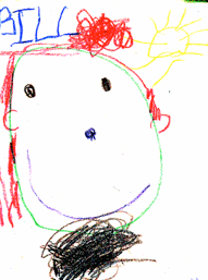 My preschool son's drawing of me