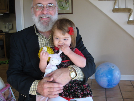 chuck and granddaughter